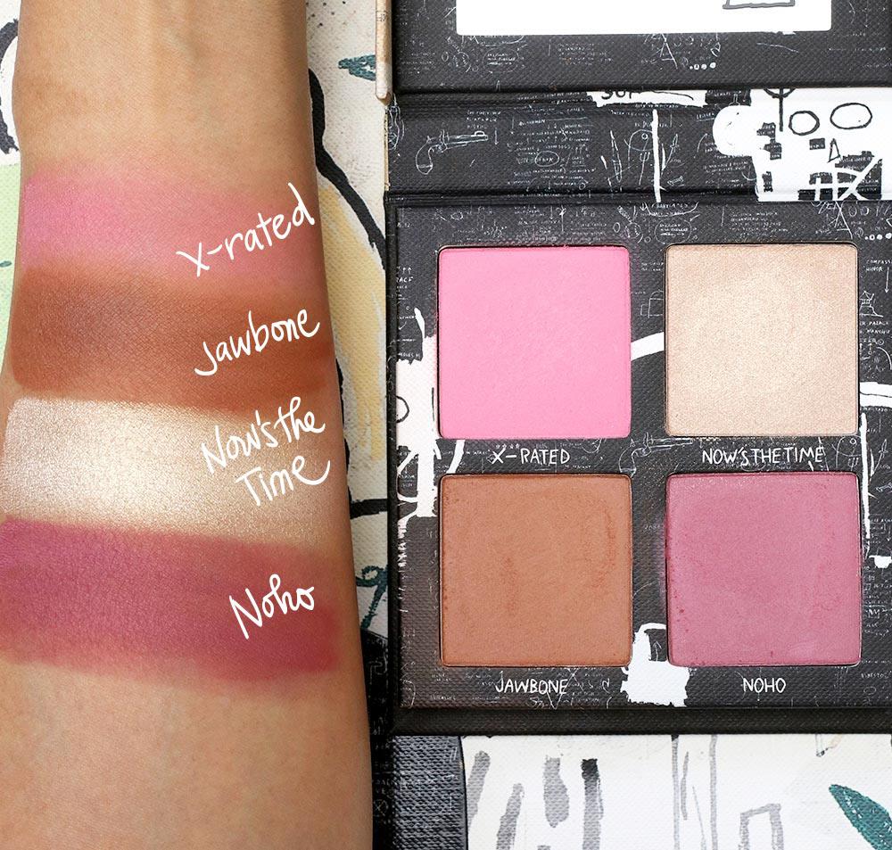 urban decay basquiat swatches blush palette