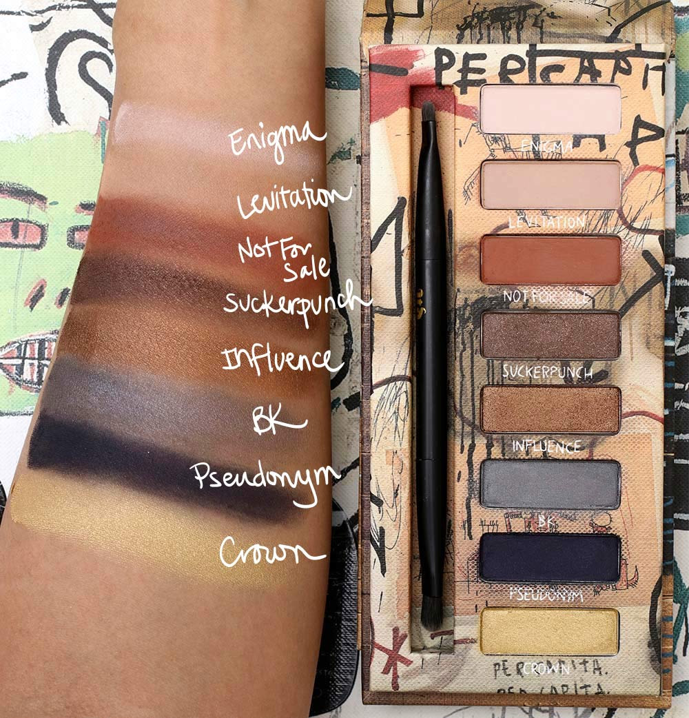 urban decay basquiat swatches gold griot