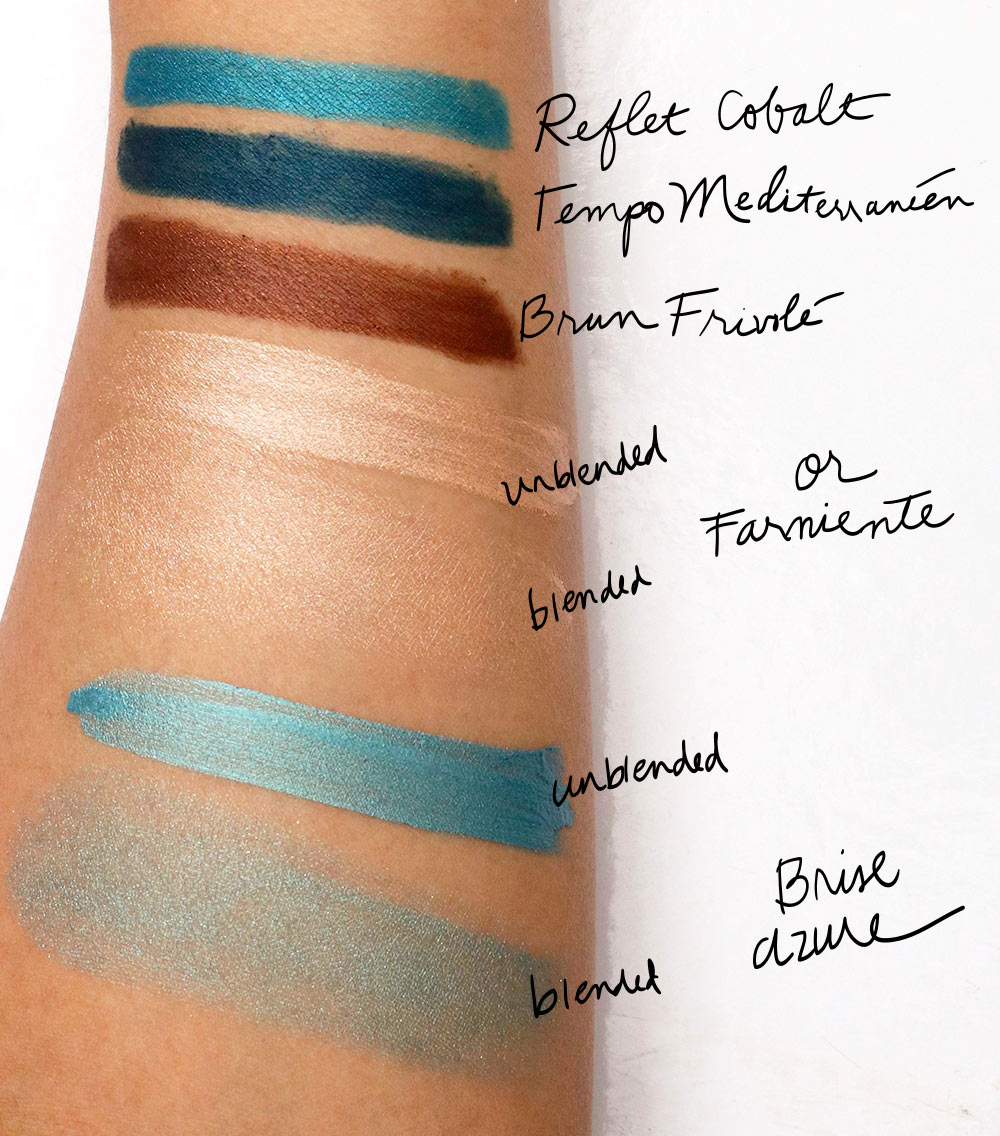 lancome summer swing swatches liners shadows
