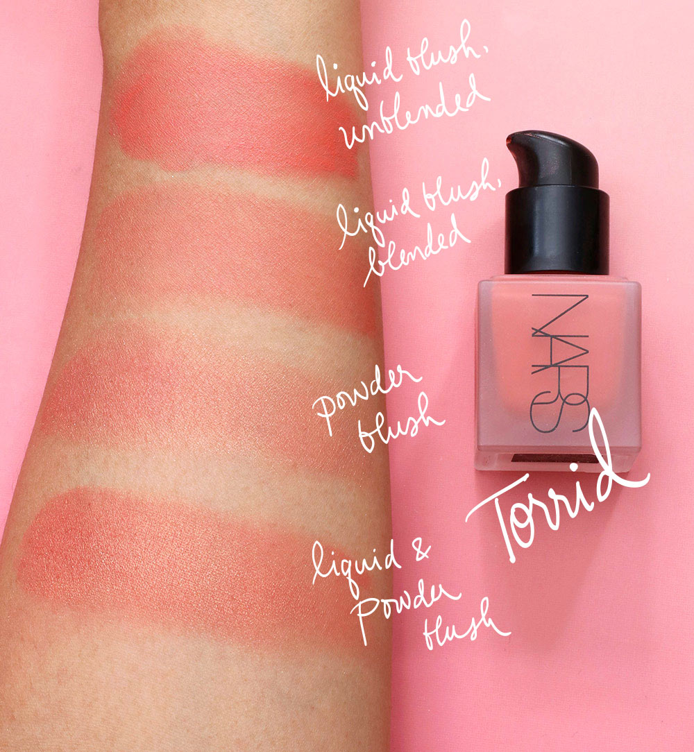 nars torrid liquid blush swatch