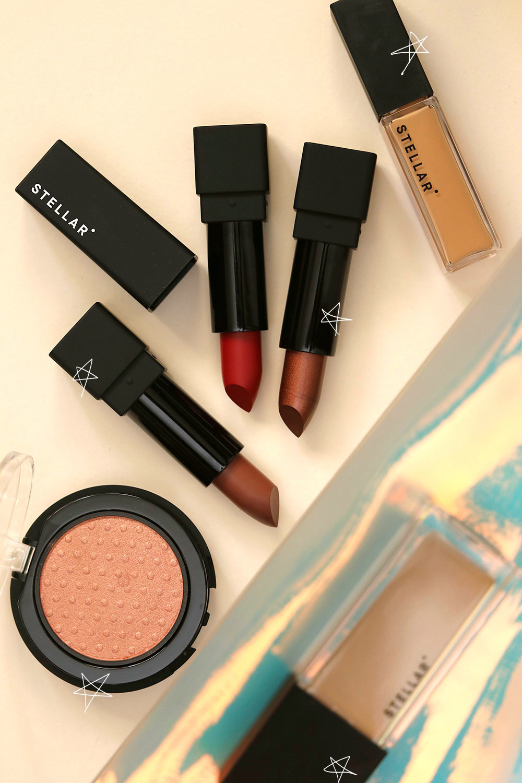 stellar lipsticks and blush and concealer