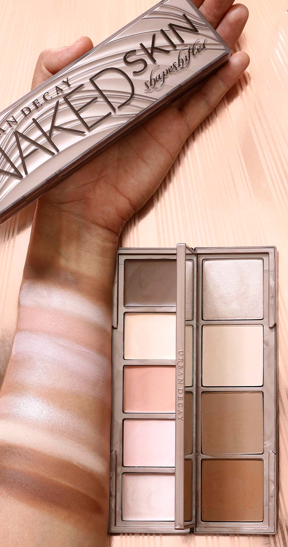 urban decay light medium shapeshifter swatches