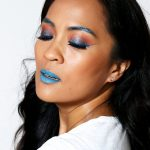 A MAC Chromat Collection Makeup Tutorial With Royal Blue Cat Eyeliner, Deep Orange Lids and Bright Aqua Lips