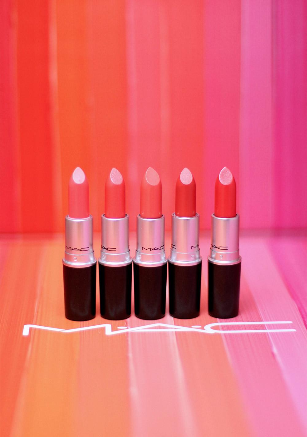 mac coral lipsticks