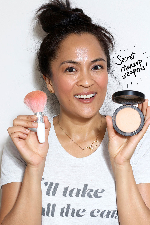 powder to tone down blush 1