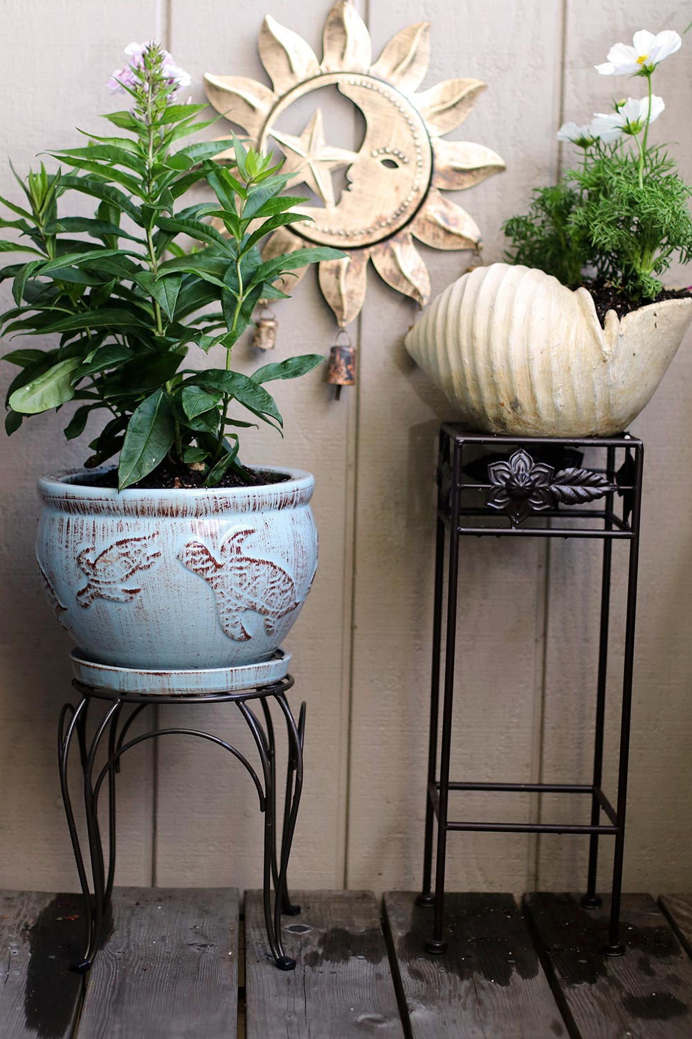 plant stand curved and straight