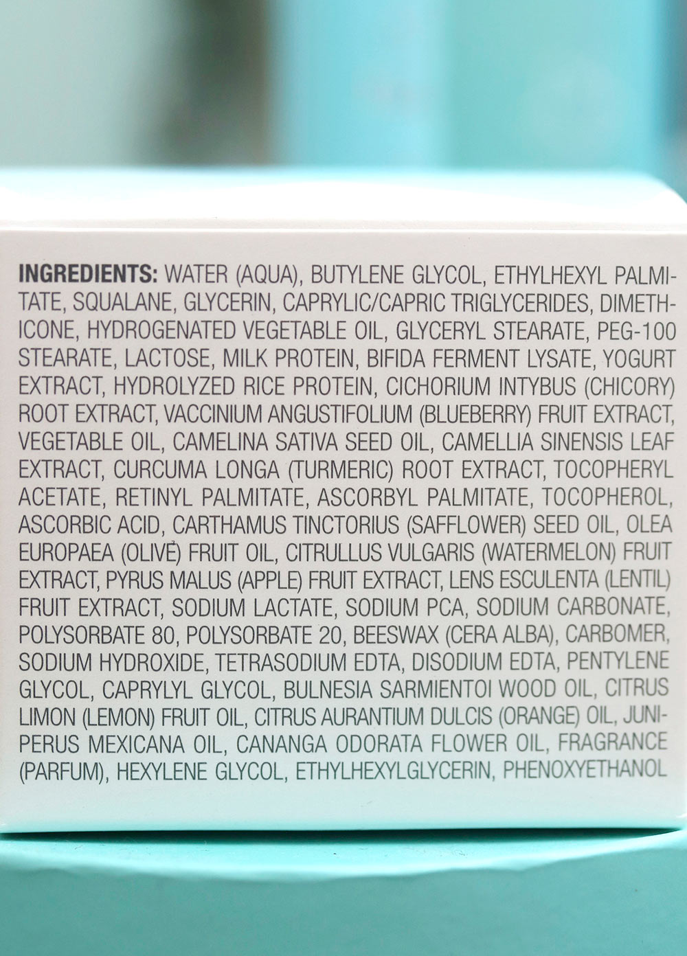 tula hydrating day night cream ingredients