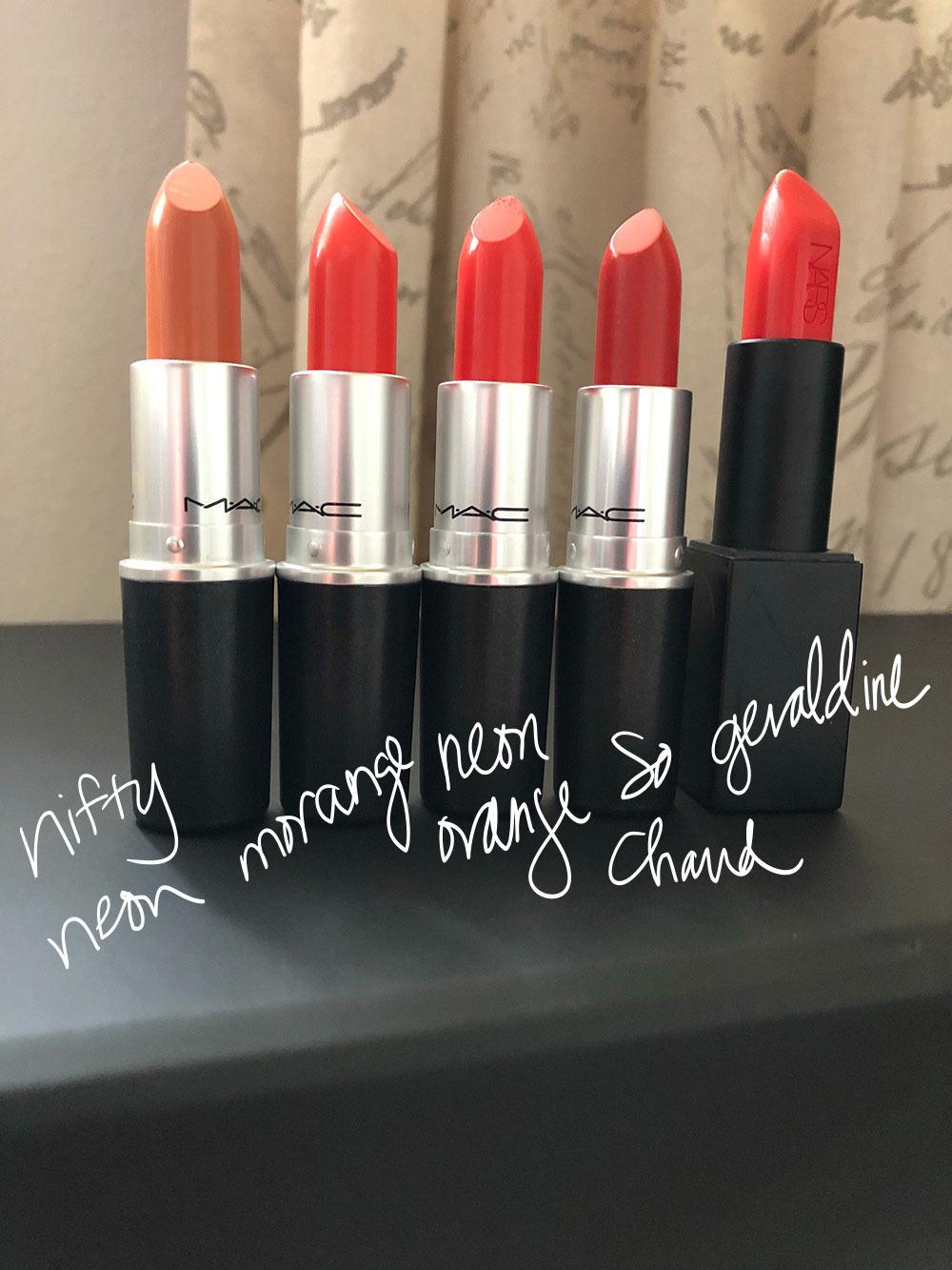 orange lipsticks