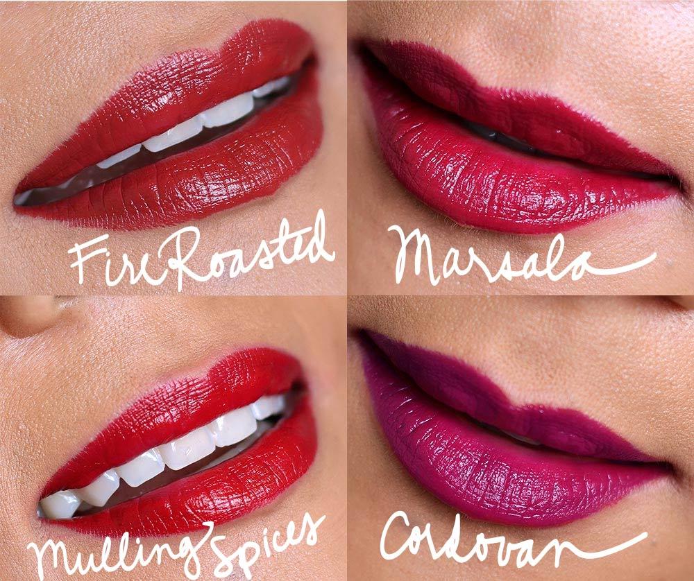 mac liptensity lipstick swatches