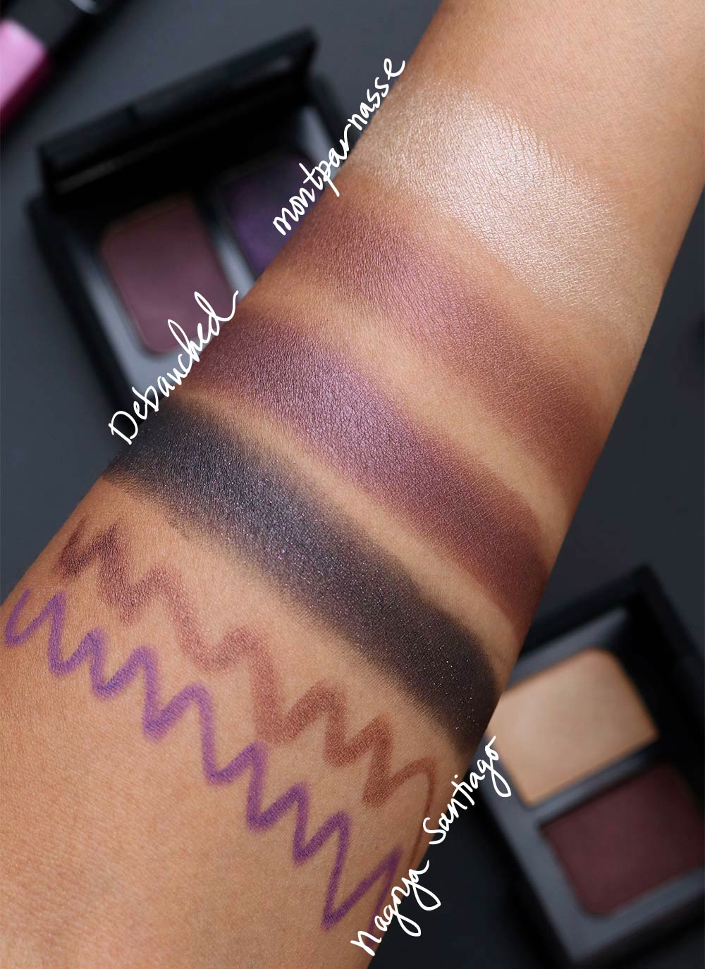 nars man ray for nars swatches debauched montparnasse