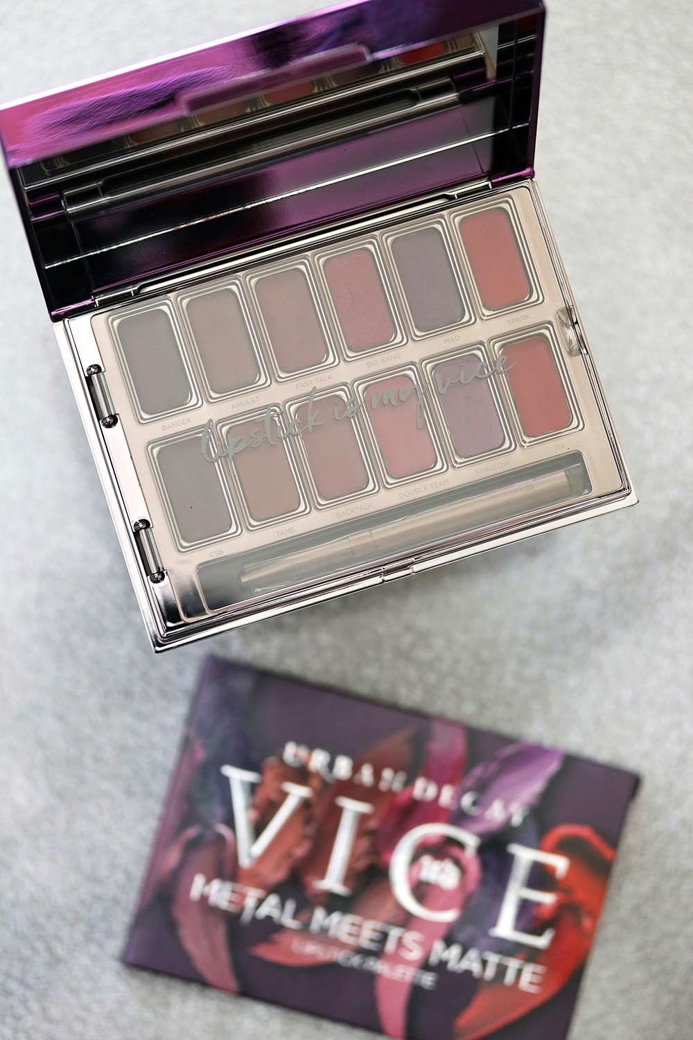 urban decay vice meets metal lip palette