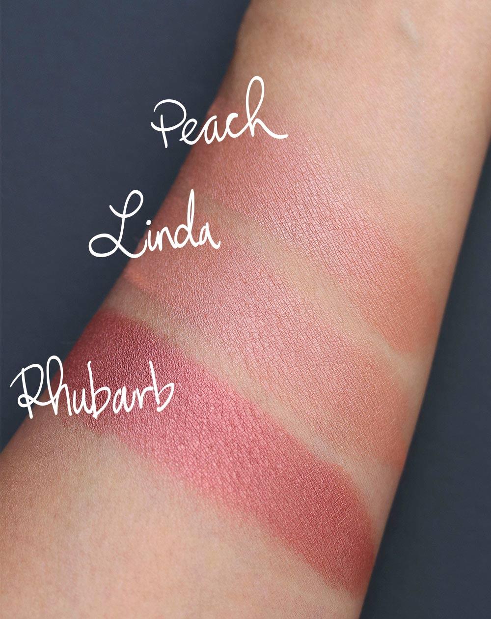 mac robert lee morris powder blush swatches