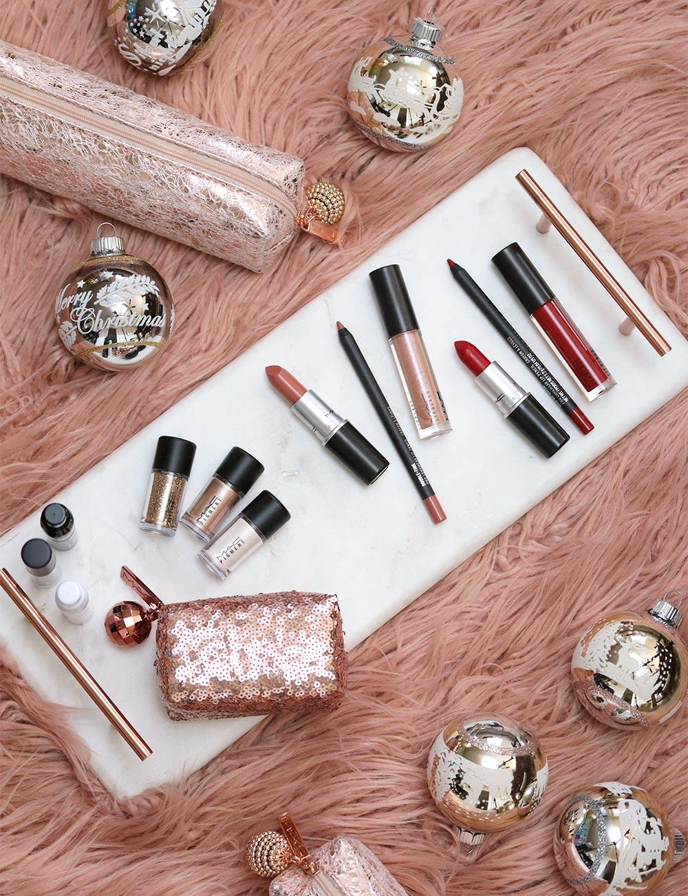 mac snow ball pigments glitter kit nude red lip kits