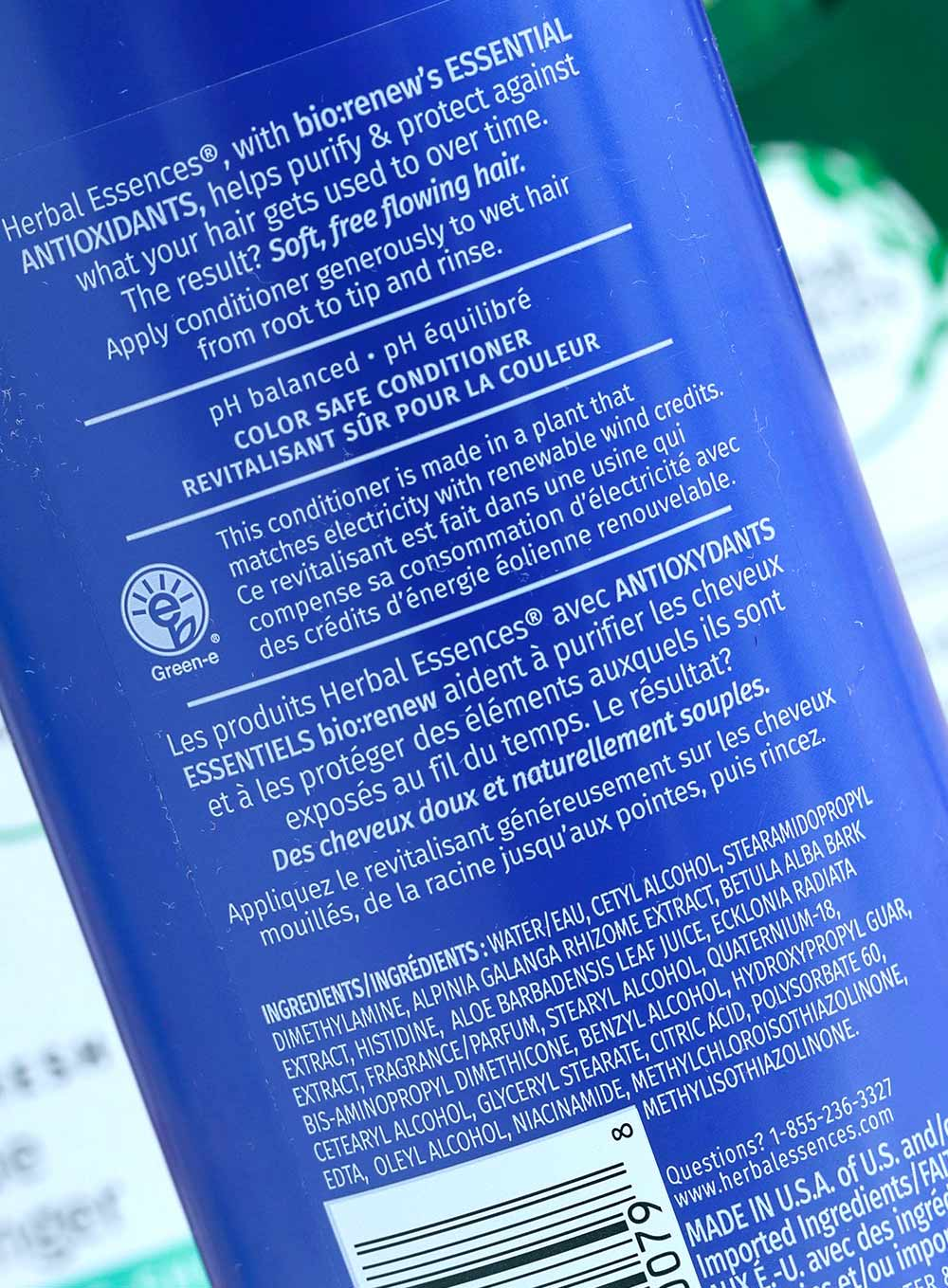 herbal essences blue ginger conditioner ingredients