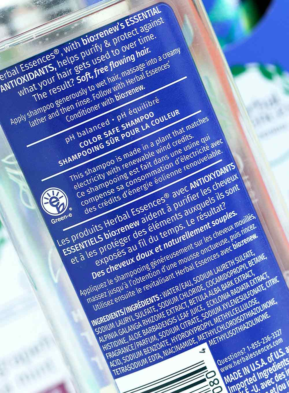 herbal essences blue ginger shampoo ingredients