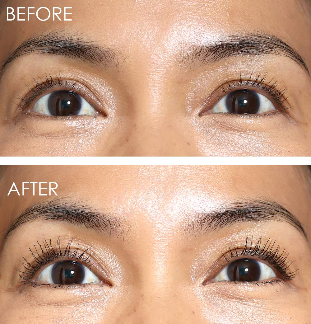 loreal voluminous lash paradise before after