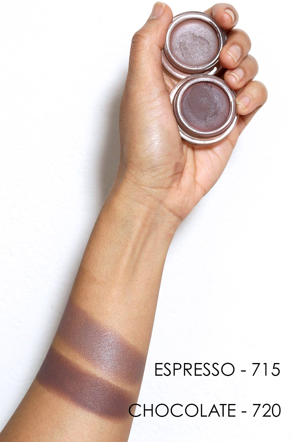 revlon colorstay eyeshadow chocolate espresso swatches