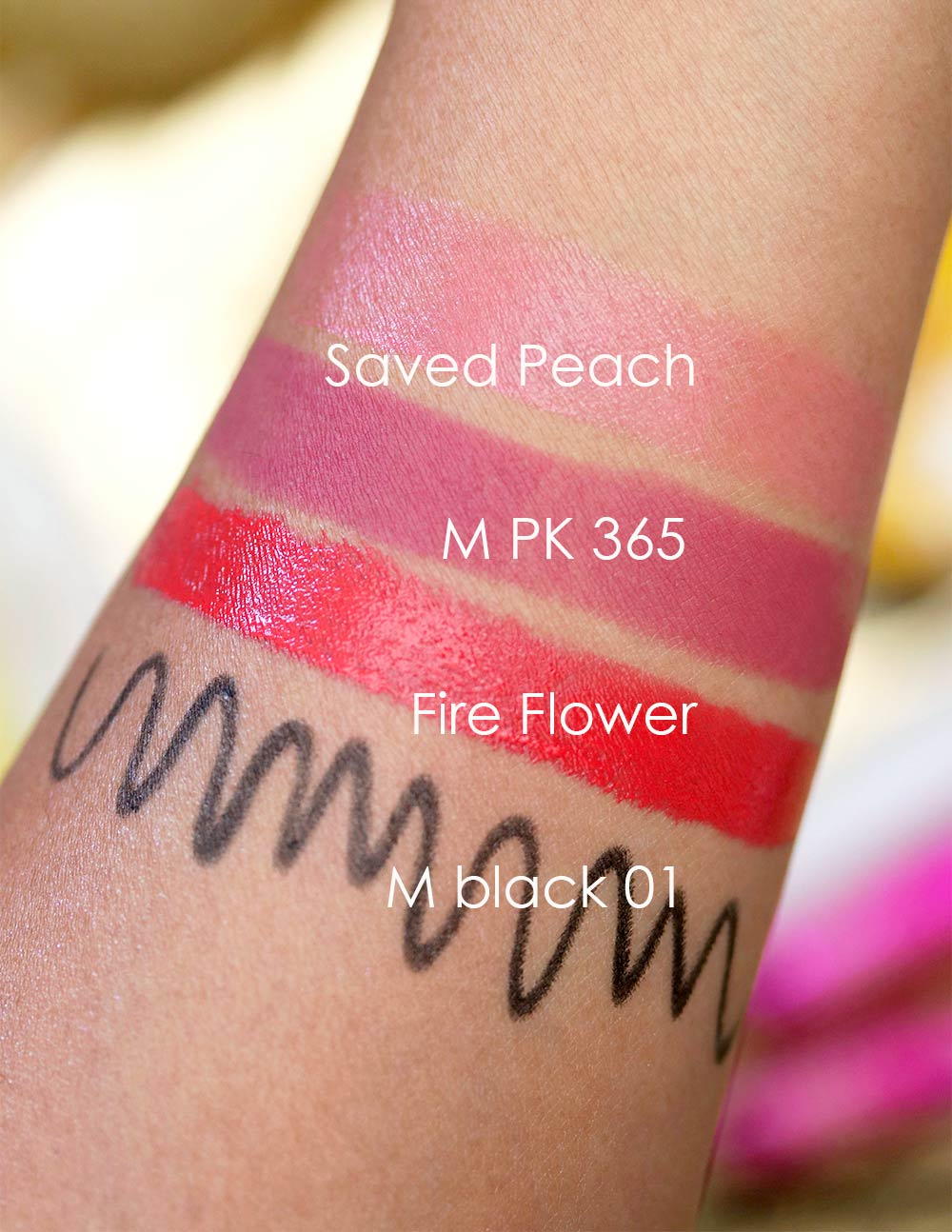 super mario makeup collection shu uemura swatches