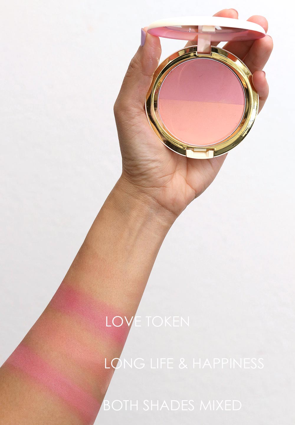 mac lunar new year 2018 swatches blush