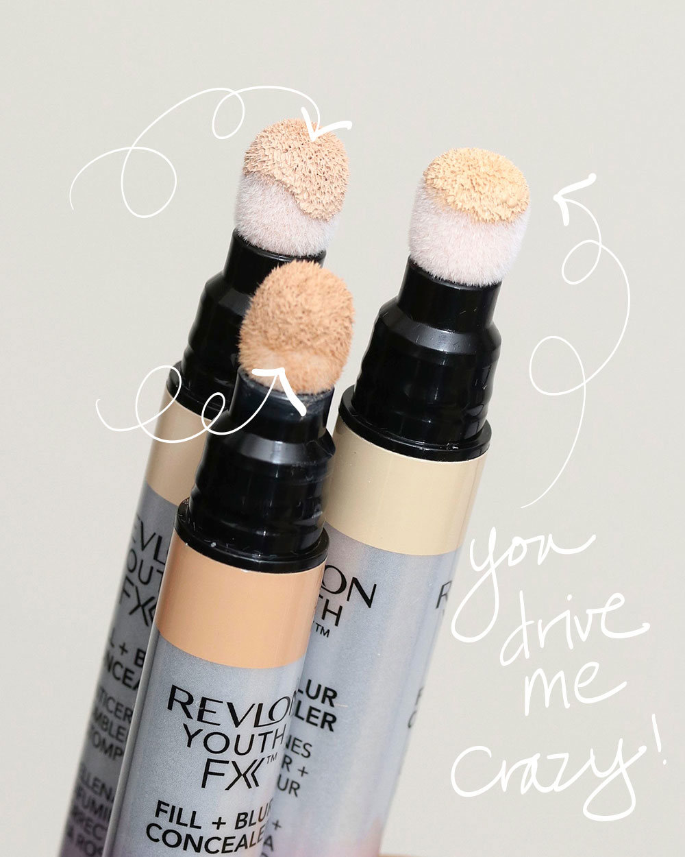 revlon youth fx fill blur concealer swatches