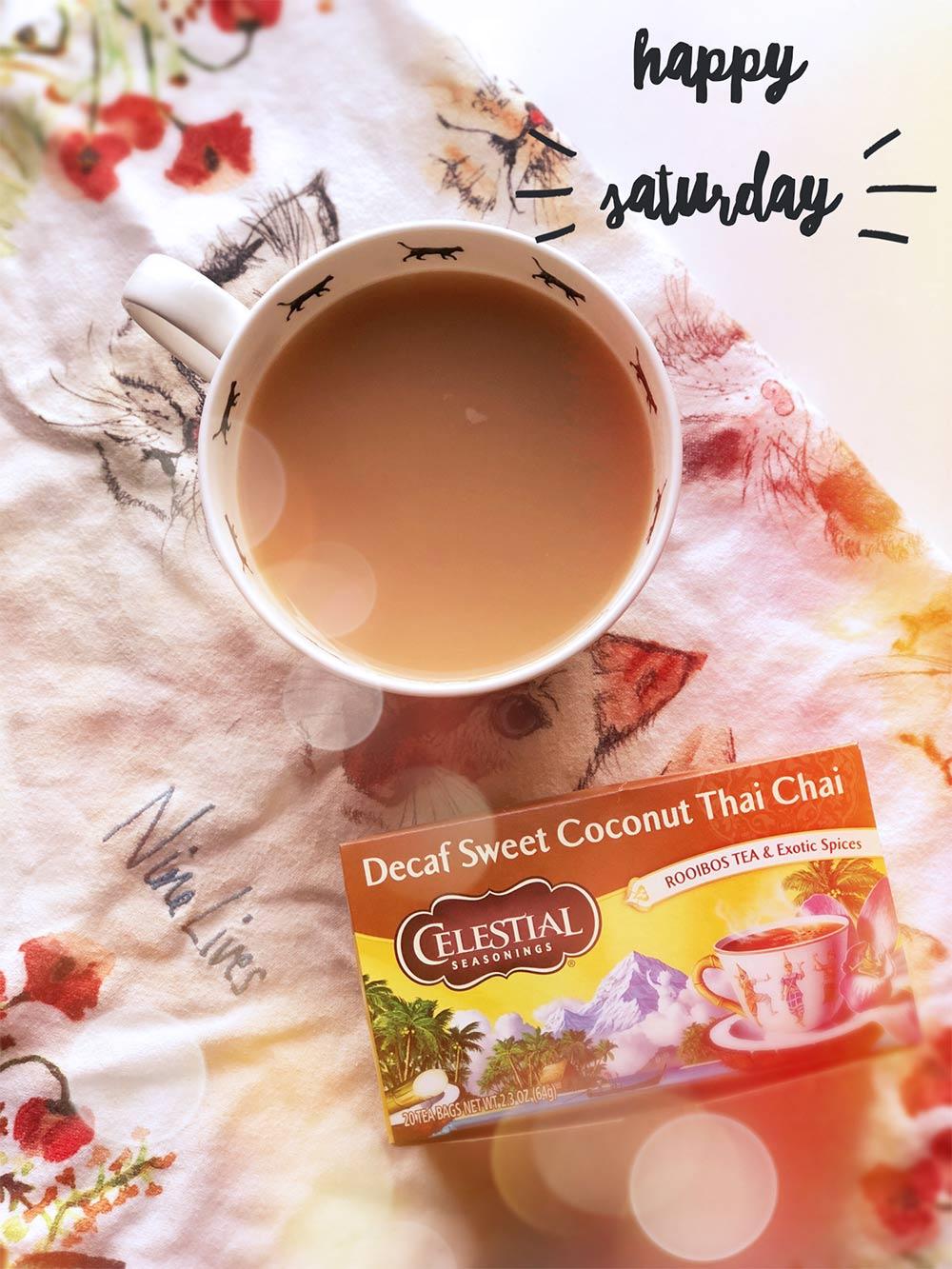 celestial seasonsings decaf sweet coconut chai tea