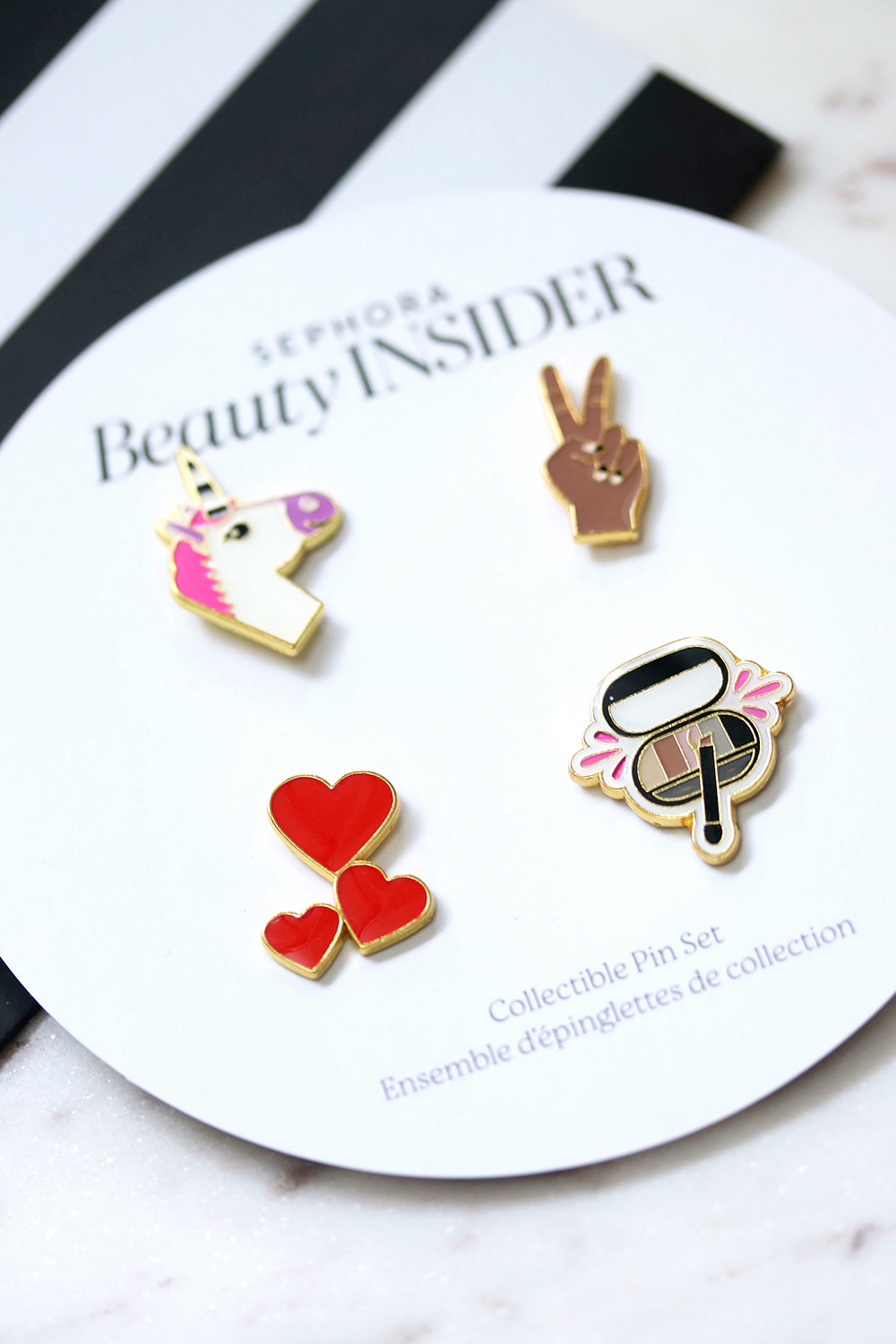 sephora beauty insider collectible pin set