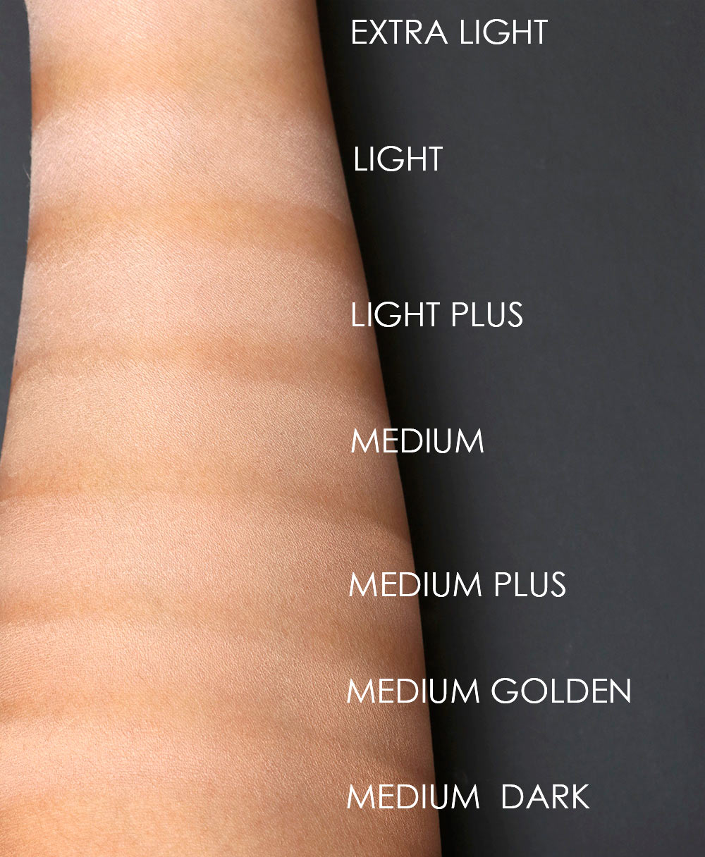 mac studio waterweight powder pressed swatches 1