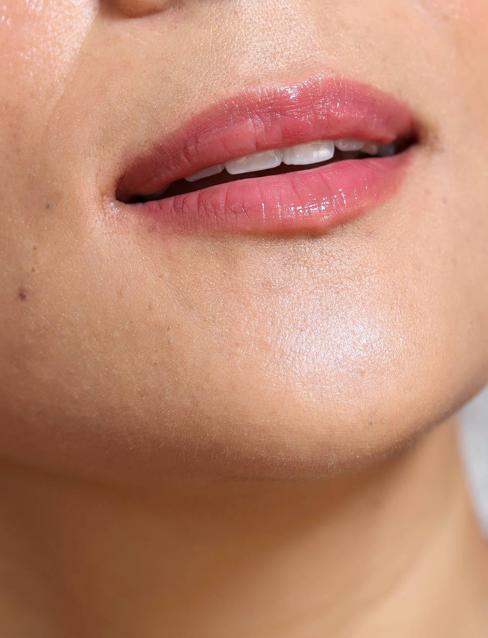 neutrogena deep cherry nudestix mystic lip closeup