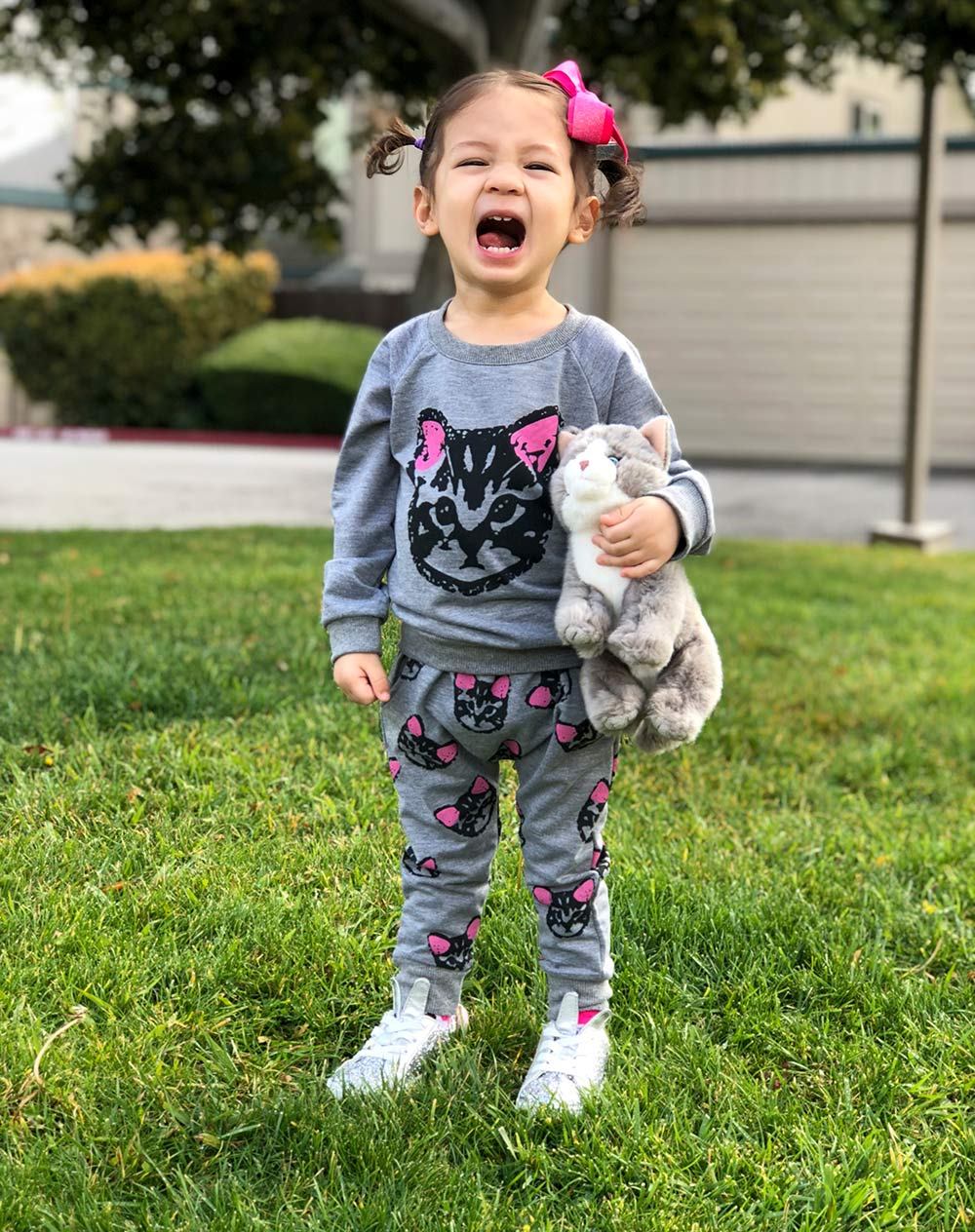 future crazy cat lady toddler two piece set