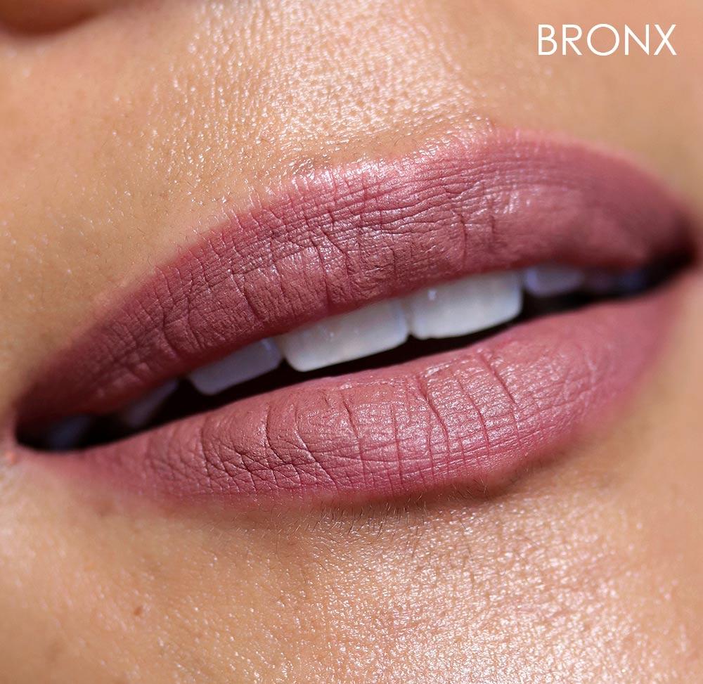 mac bronx lipstick swatch
