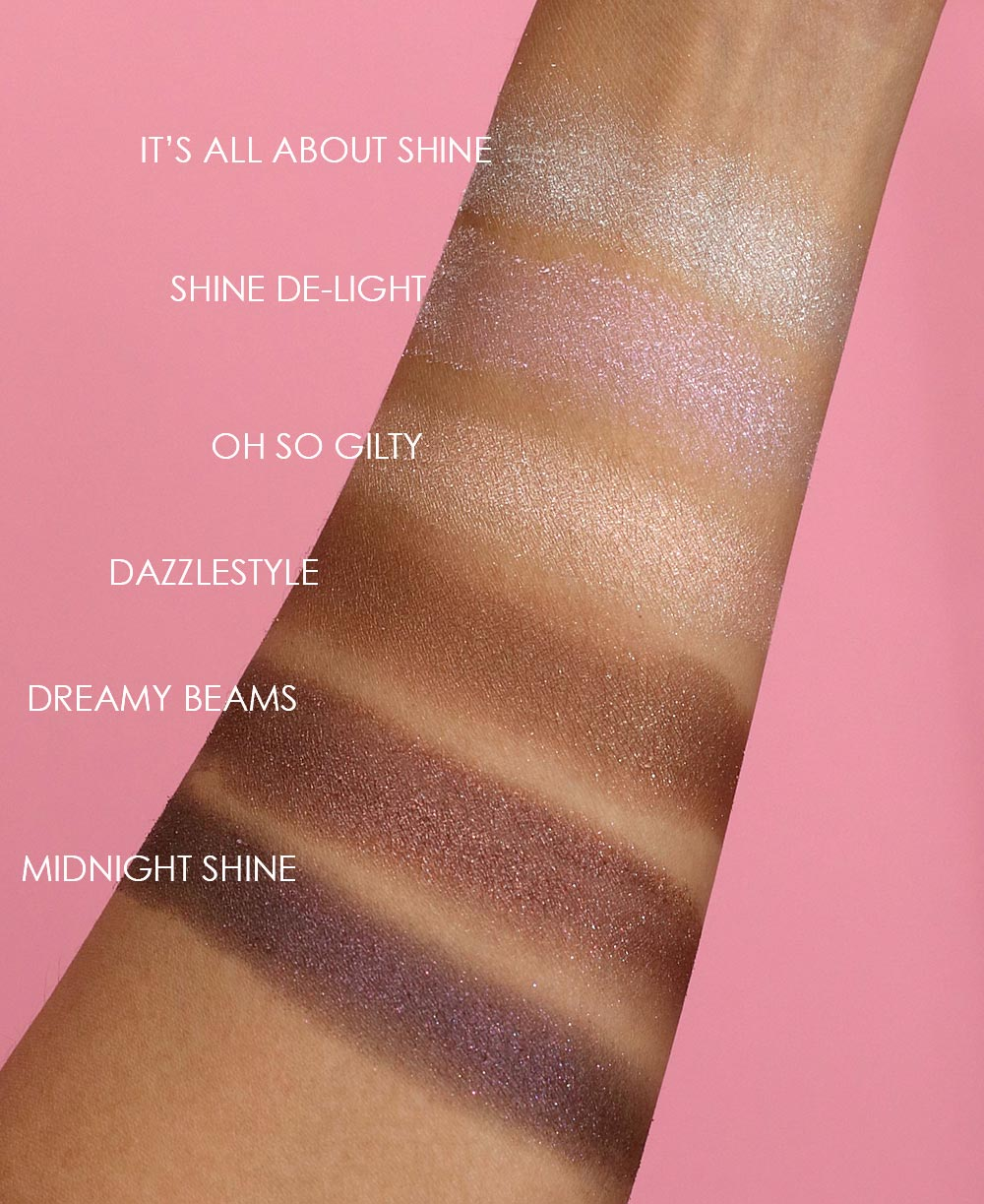 mac dazzleshadow swatches