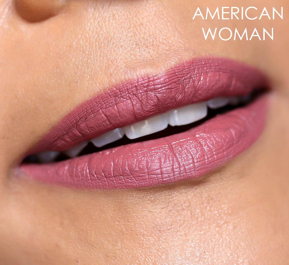 nars american woman lip swatch