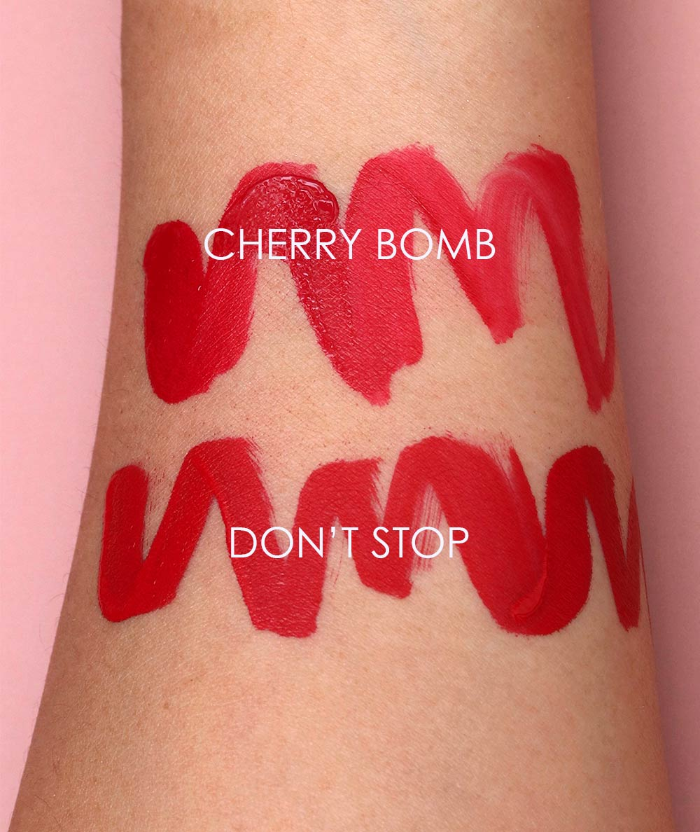 nars cherry bomb dont stop powermatte swatches