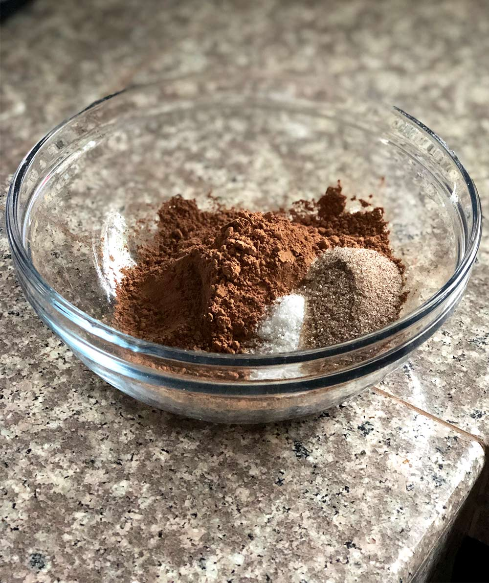 cocoa powder salt coffee