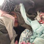 karen buried under laundry
