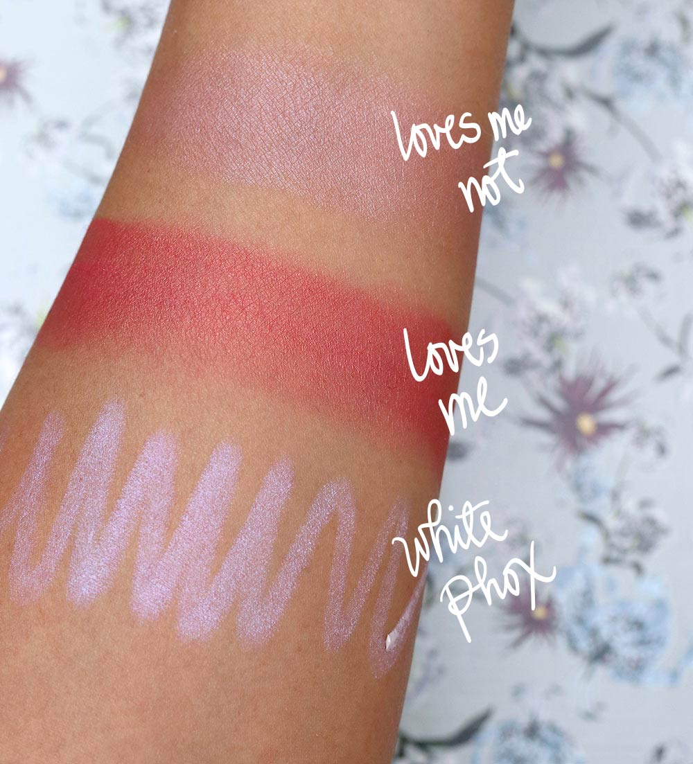 nars erdem swatches blush highlighter