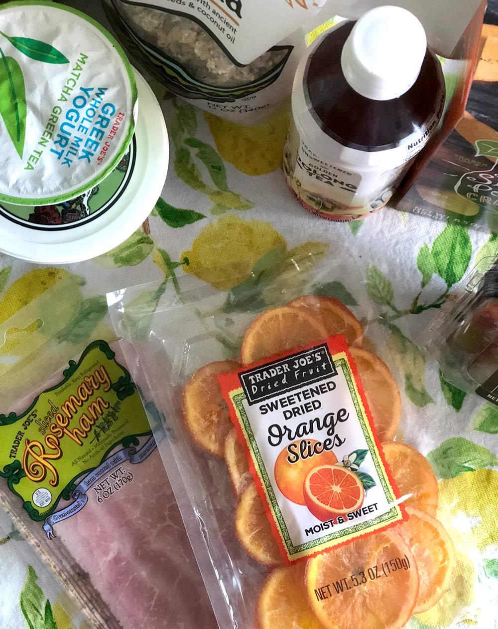 rosemary ham orange slices