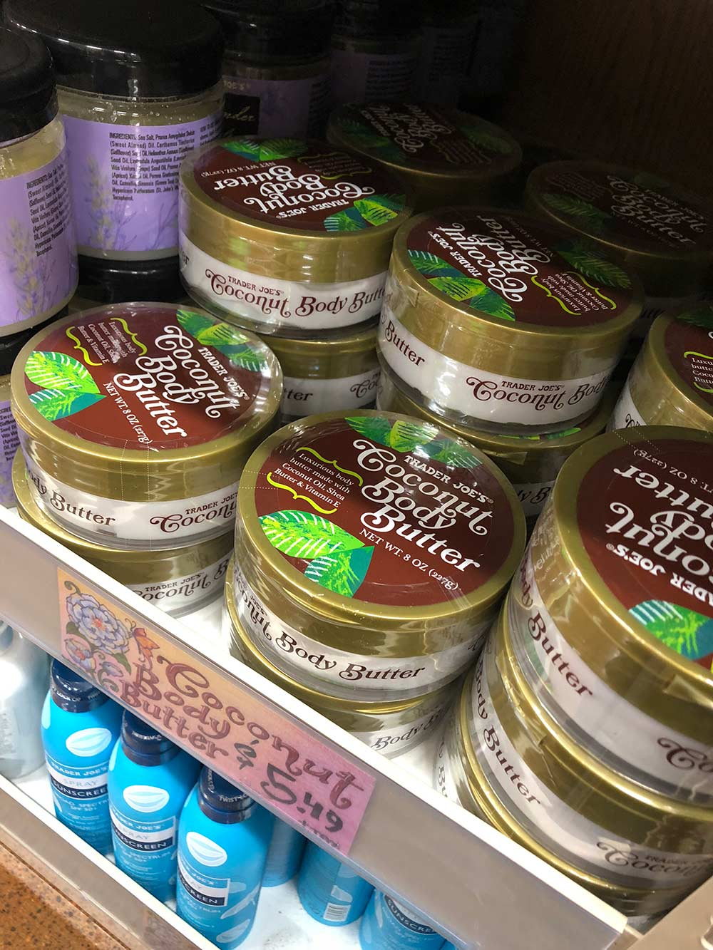 trader joes coconut body butter