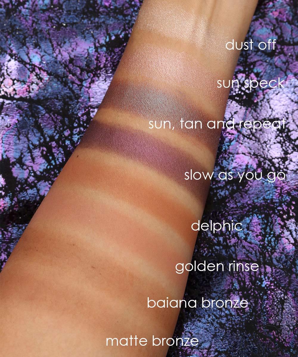 mac mirage noir swatches eyeshadow bronzer