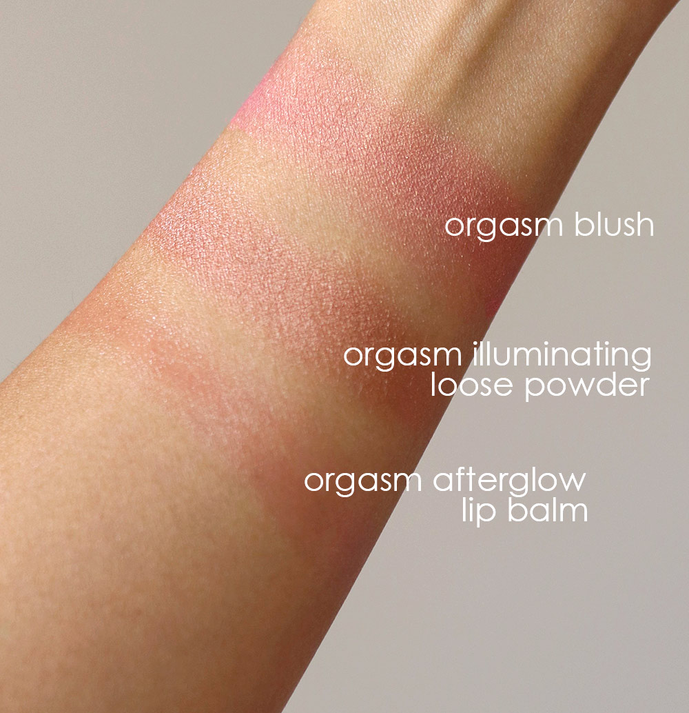 nars orgasm blush swatch