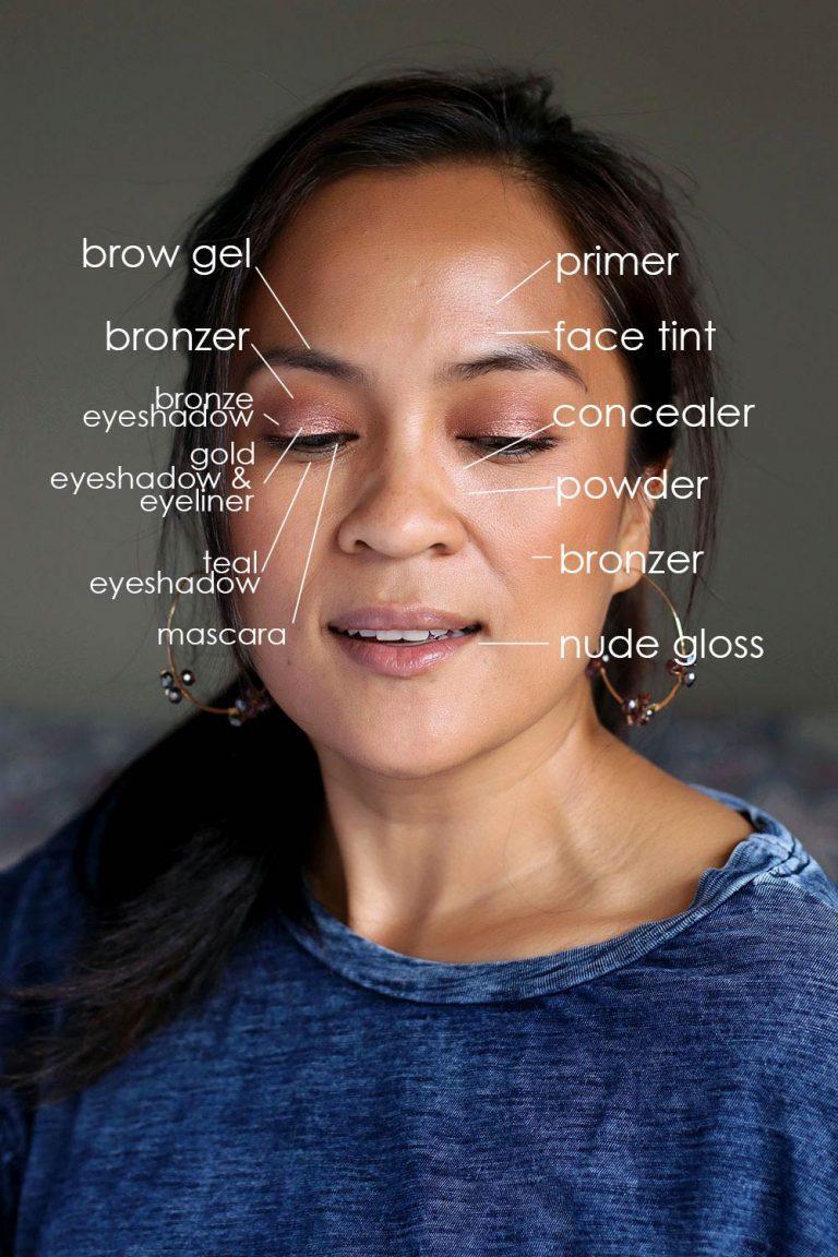 Subtle Spring Sparkle: Golden Bronze Halo Eyes for