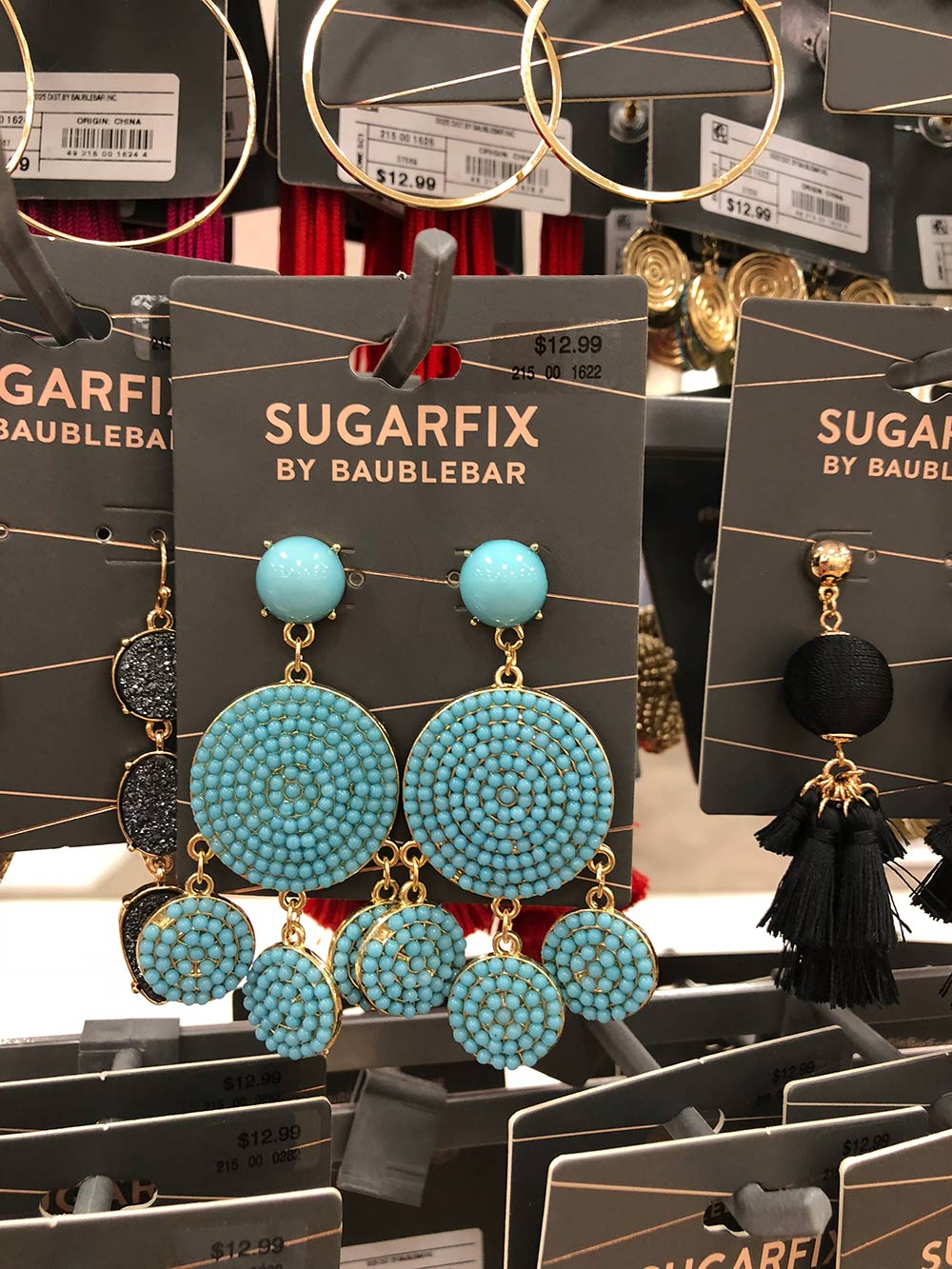 sugarfix by baublebar blue earrings
