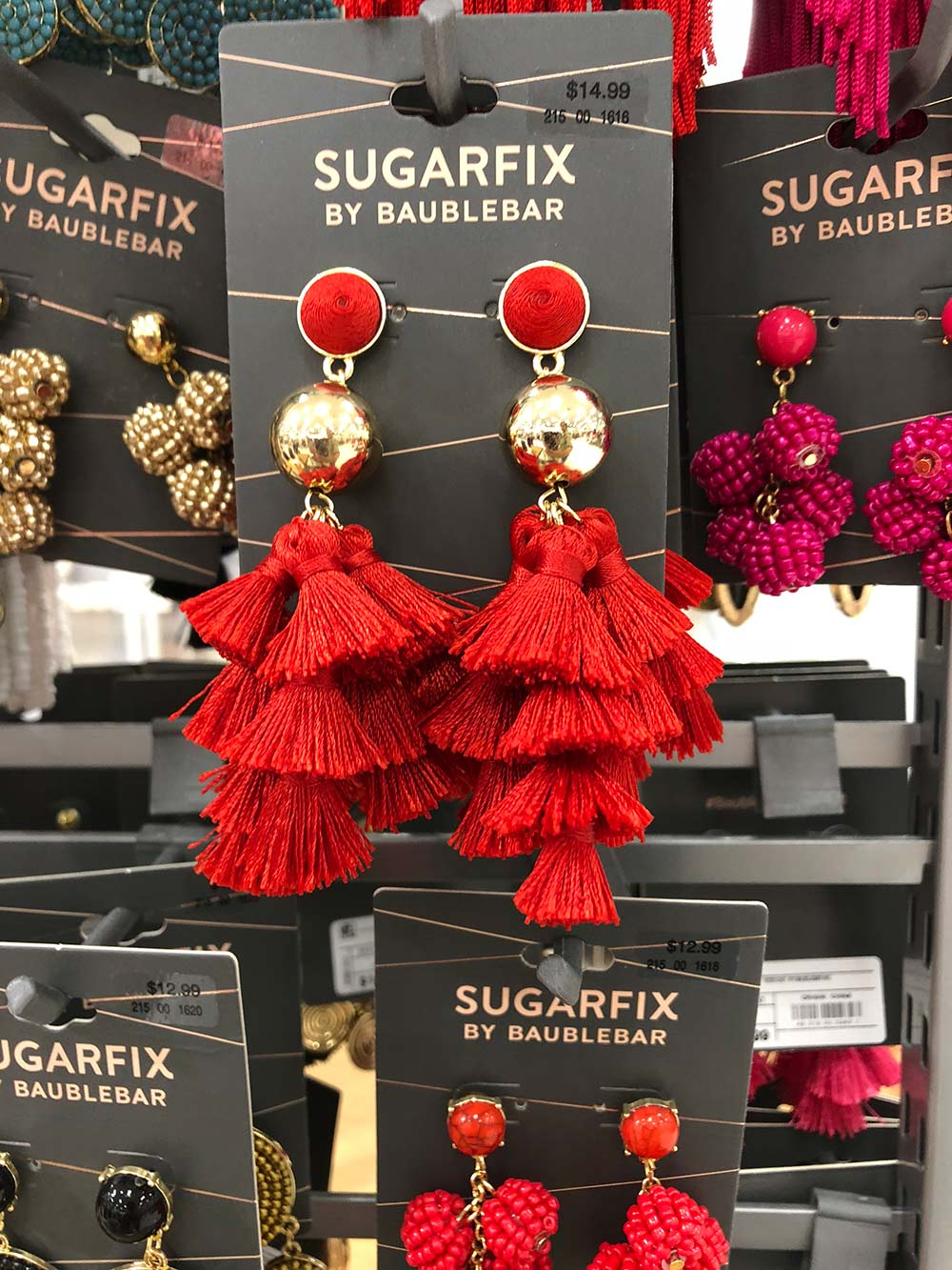 sugarfix by baublebar red tassel earrings