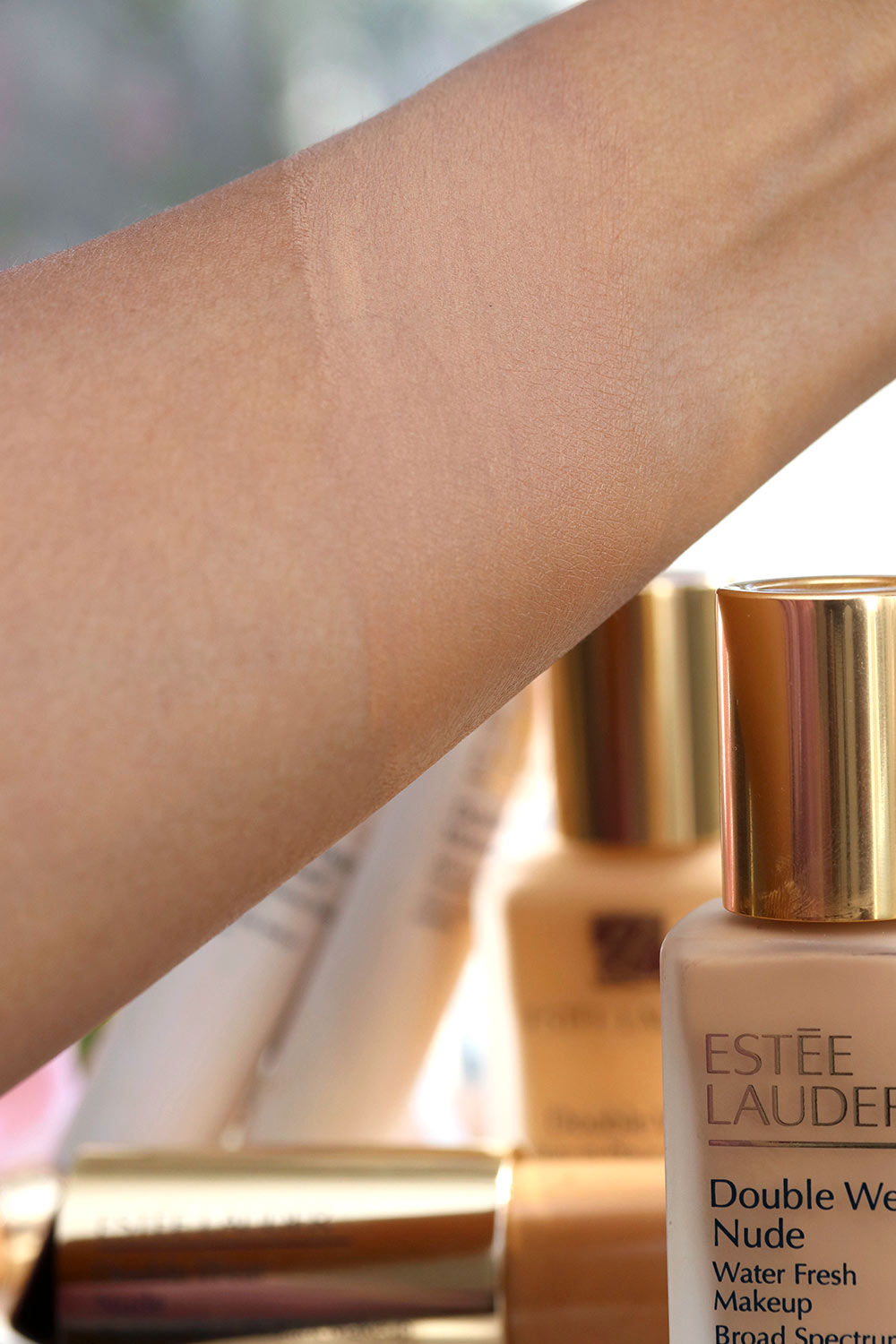 estee lauder double wear water fresh honey bronze swatch