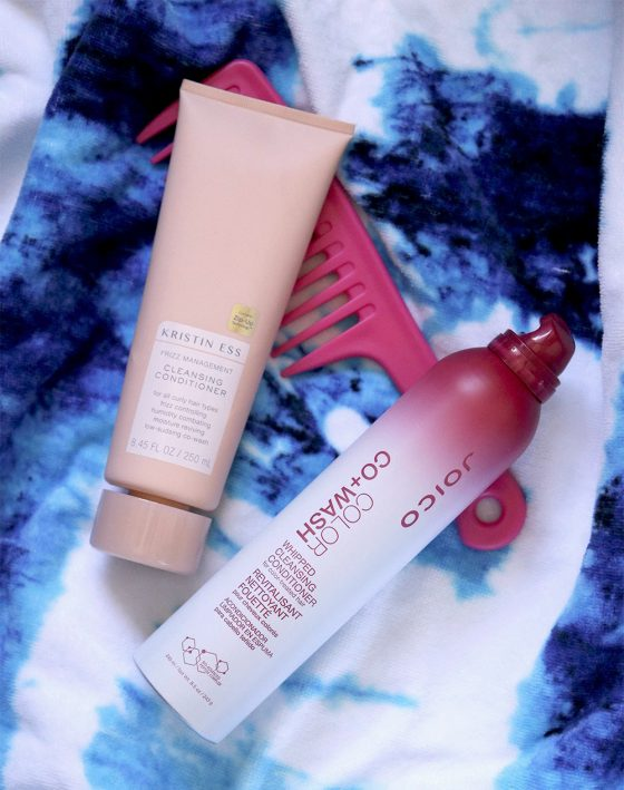 The Co-Wash Chronicles: Joico Color Co+Wash Whipped Cleansing Conditioner for Color-Treated Hair, and Kristin Ess Frizz Management Cleansing Conditioner