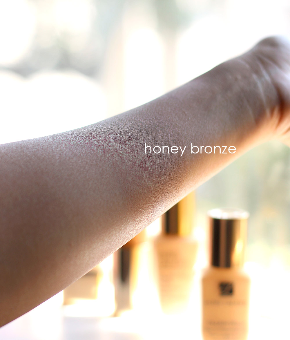 estee lauder double wear stay in place honey bronze swatch