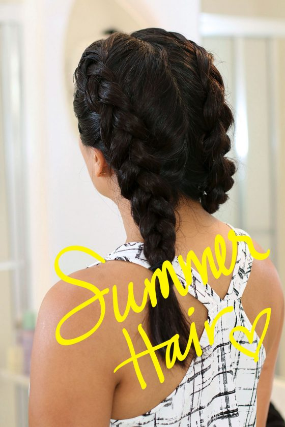 Easy Everyday Hair Styles for the Dog Days of Summer, Day 1: The Woven Wonder