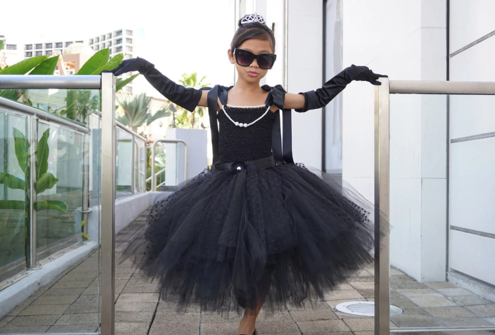 Audrey Hepburn Dress Breakfast At Tiffany s Audrey   Etsy - When Did Kids Costumes Get So Intense?