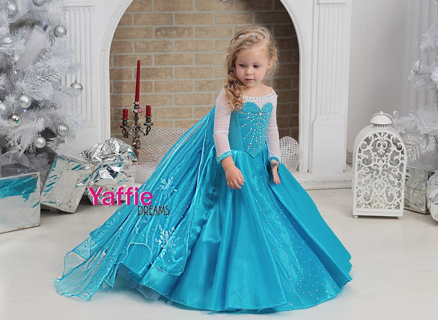 Elsa dress Disney princess costume Halloween outfit Frozen   Etsy - When Did Kids Costumes Get So Intense?