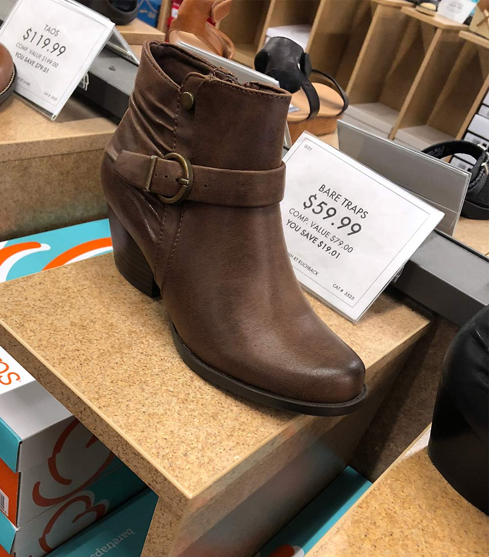 bare traps booties brown